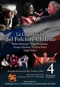 la gran noche del folclore chileno